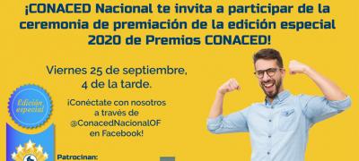 Invitación ceremonia Premios CONACED 2020 - Edición Especial