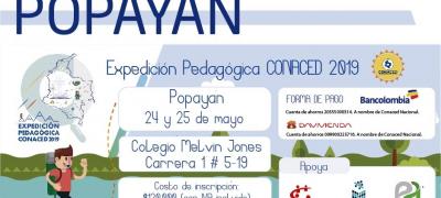 """Expedición pedagógica CONACED 2019 """"Saberes pedagógicos y didácticos, prácticas y experiencias"""""""