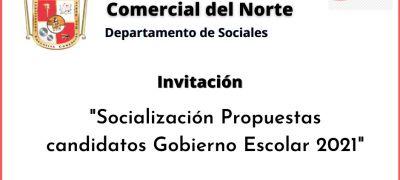 Socialización gobierno escolar 2021