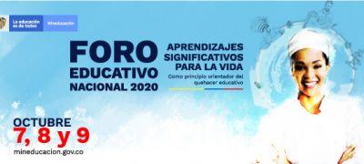 Invitación al Foro Educativo Nacional 2020